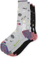 Robert Graham Two-Pair Space-Print Sock Set