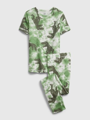 Gap Kids Organic Tie-Dye Dinosaur Graphic PJ Set