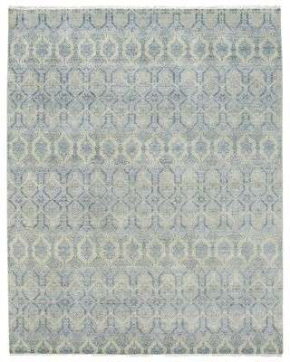 """Capel Rugs Burmesse Hand-Knotted Azure Area Rug Rug Size: 8'6"""" x 11'6"""""""