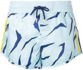 The Upside Shere Khan print shorts - women - Polyester - XXS