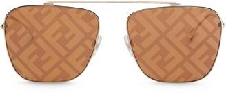 Fendi FF-printed caravan sunglasses