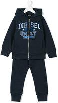 Diesel logo print tracksuit set - kids - Cotton - 3 yrs