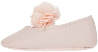 Monsoon Baby Macaroon Pink Corsage Booties - Pale Pink