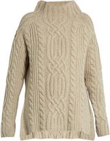 Raey Side-split cable-knit wool sweater