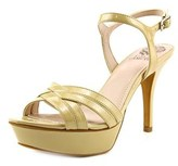 Vince Camuto Paden Women W Open Toe Leather Platform Heel.