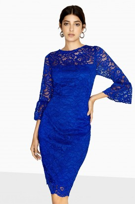 Paper Dolls Marlborough Fluted Sleeve Lace Dress