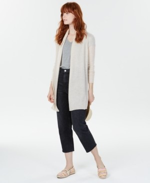 Charter Club Rolled-Edge Pure Cashmere Cardigan, Created for Macy's