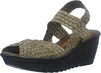 Bernie Mev. Women's Fame Wedge Sandal Bronze 38 EU/7.5-8 M US