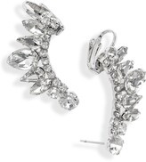 CRISTABELLE Crystal Ear Crawler Earrings
