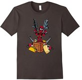 Marvel Deadpool Weapons and Food Graphic T-Shirt