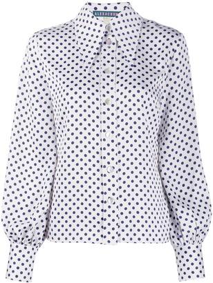 ALEXACHUNG Alexa Chung polka dot print shirt