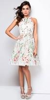 Terani Couture Jewel Flower Garden Cocktail Dress
