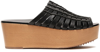 Rick Owens Leather And Cord Woven Platform Sandals