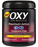 Oxy Maximum Action 3-in-1 Acne Medication Treatment Pads, 90 CT