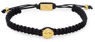 King Baby Studio Brass Bead Macrame Bracelet