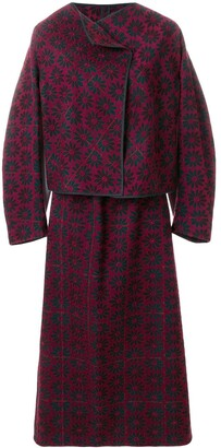 Comme Des Garçons Pre Owned 1999 Brocade Skirt Suit