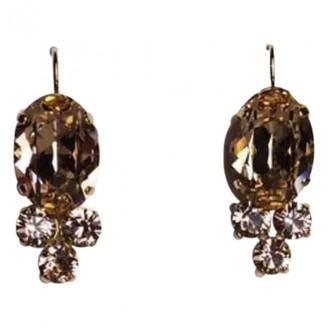 Philippe Ferrandis Gold Crystal Earrings