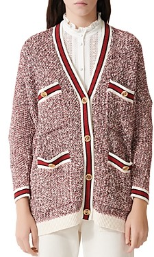 Maje Mapada Knit Button-Front Cardigan