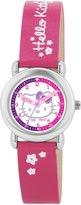 Hello Kitty HK024 Girls Dark Pink Plastic Strap Watch