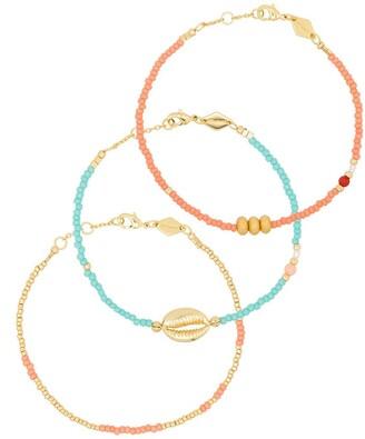 Anni Lu Wave Chaser 18kt gold-plated bracelet set