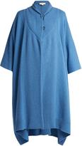 Stella McCartney Asymmetric hem cashmere and wool-blend poncho
