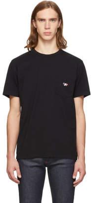 MAISON KITSUNÉ Black Tricolor Fox T-Shirt