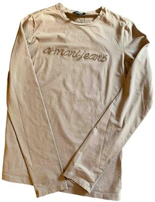 Armani Jeans Beige Cotton Top for Women
