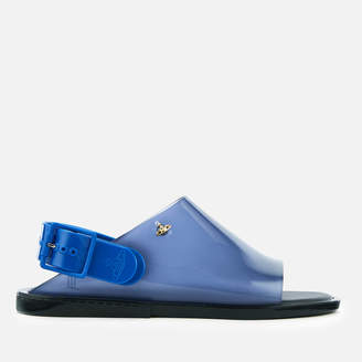 Melissa Women's Twist Flat Sandals - Blue Contrast
