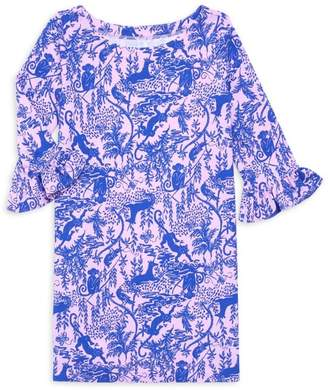Lilly Pulitzer Little Girl's & Girl's Sophie UPF 50+ Ruffle-Sleeve Dress