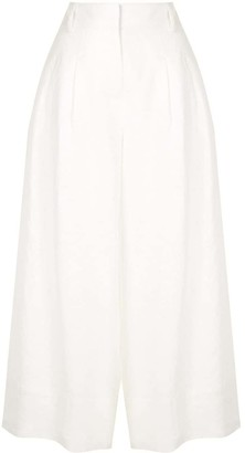 Nicholas Wide-Leg Pleated Trousers