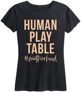 Instant Message Women's Women's Tee Shirts BLACK - Black 'Human Play Table' Relaxed-Fit Tee - Women
