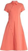 Tomas Maier Asymmetric cotton-blend poplin shirtdress
