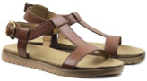 Will'S Vegan Shoes Wills Vegan Shoes - Footbed Sandals Brown Vegan Leather - Size 38 (UK 5) - Brown