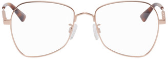 McQ Rose Gold Metal Glasses