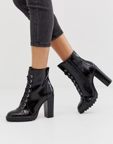 Call it SPRING by ALDO Axell lace up chunky ankle boots in black