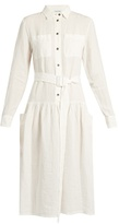 Tomas Maier Dropped-waist linen dress