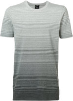 Denham Jeans ombre stripe T-shirt - men - Cotton/Spandex/Elastane - M