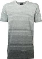 Denham Jeans ombre stripe T-shirt