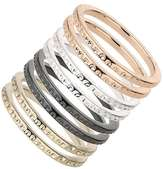 Wallis Textured Mixed Metal Ring Pack