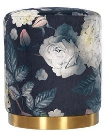 Thumbnail for your product : TOV Furniture Opal Floral Velvet Ottoman