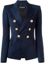 Balmain double breasted blazer - women - Cotton/Viscose/Virgin Wool - 36