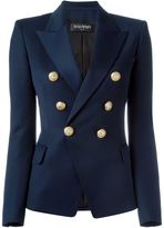 Balmain double breasted blazer - women - Cotton/Viscose/Virgin Wool - 38