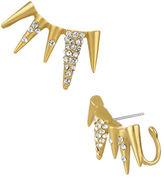 Sam Edelman Crystallized Spike Ear Cuff Earrings