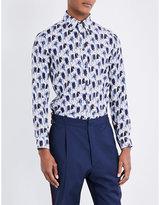 Bally Regular-fit Printed Silk Shirt