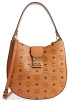 MCM Patricia Visetos Coated Canvas Hobo - Brown