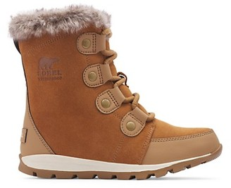 Sorel Girl's Whitney Faux Fur-Collar Suede Boots