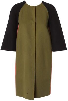 Fendi Khaki Wool Coat for Women