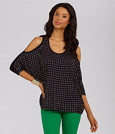 MICHAEL Michael Kors Studded Cold-Shoulder Top