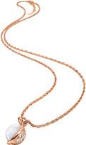Folli Follie Orbit orb rose gold-plated pendant necklace