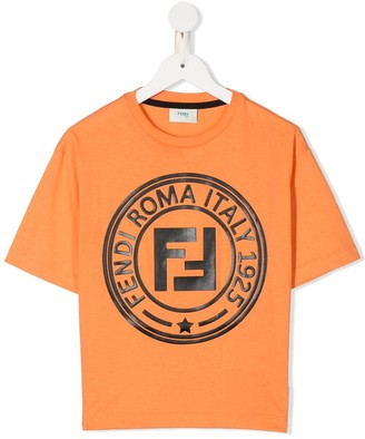 Fendi Kids FF print short-sleeved T-shirt